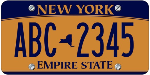 NY License Plate