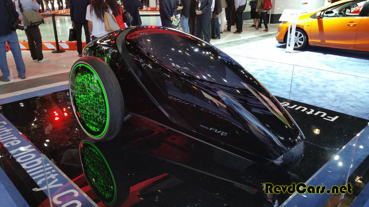 Something straight outta Tron in the Toyota booth